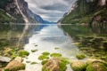 Картинка горы, река, камни, Rogaland Fylke, NORWEY, Lysebotn