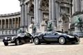 Картинка здание, Bugatti, колонны, Veyron, бугатти, Coupe, скульптуры