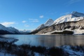 Картинка зима, горы, небо, озеро, снег