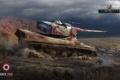 Картинка war, AMX 50B, болото, танк, война, World of Tanks