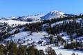 Картинка следы, пейзаж, деревья, природа, горы, снег, Nevada