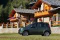 Картинка авто, деревья, машины, дом, поляна, Cars, цветы.