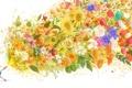 Картинка девушка, цветы, магия, розы, аниме, арт, тюльпаны