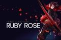 Картинка взгляд, девушка, аниме, ботинки, арт, лепестки роз, Ruby Rose