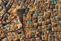 Картинка город, улица, дома, текстура, двор, Алжир