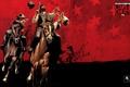 Картинка стрелок, лошадь, револьвер, игры, rockstar, Red Dead Redemption, выстрел