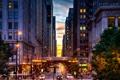 Картинка Вечер, Чикаго, Небоскребы, USA, Chicago, skyline, nightscape