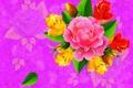 Картинка цветок, капли, лист, роза, вектор, букет, силуэт