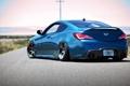 Картинка синий, Hyundai, блик, blue, rear, хёндай, Genesis
