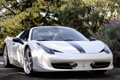 Картинка кабриолет, италия, white, cabrio, italia, 458, Ferrari