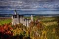 Картинка осень, лес, скала, Германия, Бавария, Germany, Bavaria
