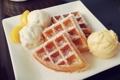 Картинка еда, мороженое, крем, food, вафли, cream, ice cream