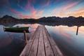 Картинка пейзаж, лодка, озеро