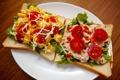Картинка еда, тарелка, бутерброды