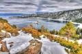 Картинка зима, природа, озеро, фото, Калифорния, США, Tahoe