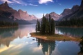 Картинка облака, небо, казат, вода, озеро, деревья, природа
