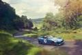 Картинка дорога, машина, Concept, синий, Jaguar, концепт, ягуар