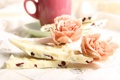 Картинка цветы, чай, кофе, шоколад
