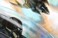 Картинка полет, арт, самолеты, кабина, пилот, в небе