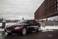 Картинка машина, снег, Maserati, Quattroporte, фотограф, перед, auto