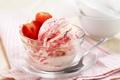Картинка ягоды, клубника, мороженое, десерт, Strawberry, dessert, ice cream