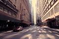 Картинка здания, улица, чикаго, высотки, Chicago, машины, движение