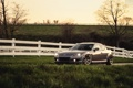 Картинка Mazda, мазда, RX-8, silvery, Evoked, белый забор