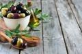 Картинка ложка, миска, оливки, листики, leaves, spoon, оливковое масло
