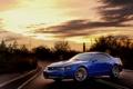 Картинка солнце, закат, Mustang, Ford, мустанг, тачки, форд