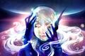 Картинка девушка, волосы, планета, руки