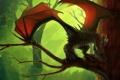 Картинка дерево, дракон, крылья, ветка, арт, Leundra