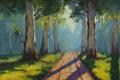 Картинка Рисунок, Арт, Artsaus, Forest Light