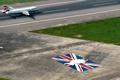 Картинка Самолет, Земля, Вид сверху, Взлет, Пассажирский, Airbus, Взлетная полоса
