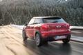 Картинка дорога, Красный, Лес, Машина, Mini Cooper, MINI, Мини Купер