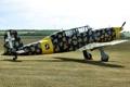 Картинка поле, самолет, учебно-тренировочный, Fiat G.46