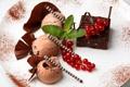 Картинка chocolate, sweet, dessert, berries, ice cream