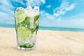Картинка коктейль, summer, beach, fresh, sea, paradise, drink