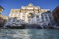 Картинка вода, фонтан, скульптура, италия, рим, Треви