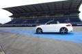 Картинка Audi, Авто, Белый, Кабриолет, ABT, Вид сбоку, Трибуна
