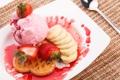 Картинка клубника, мороженое, банан, десерт, strawberry, варенье, dessert