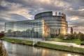 Картинка Франция, здание, канал, Страсбург, европейский парламент
