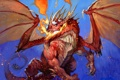 Картинка огонь, дракон, рисунок, крылья, WoW, World of Warcraft, Hearthstone