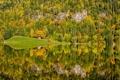Картинка Autumn, reflection, Norway