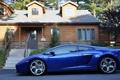 Картинка дом, Lamborghini, диски, синяя, ламборджини, галардо