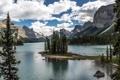 Картинка пейзаж, горы, Maligne lake