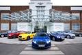 Картинка фон, здание, Bentley, Continental, Континенталь, Бентли, передок