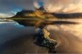 Картинка природа, река, гора, Исландия
