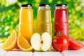 Картинка помидор, сок, апельсин, яблоко, бутылочки