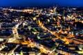 Картинка ночь, город, огни, здания, дома, Германия, панорама