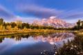 Картинка лес, небо, природа, река, гора